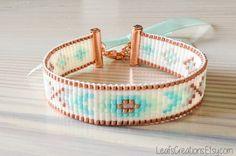Bead loom bracelet Beads bracelet Loom beaded bracelet Woven bracelet copper…