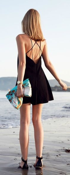 Backless Short Dress