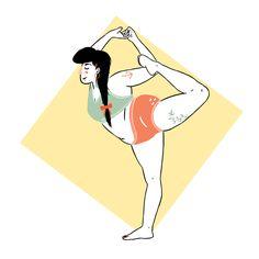 Marta Maksymiec Illustration A plus-size yoga girl Plus Size Yoga, Plus Size Art, Character Drawing, Character Design, Yoga Art, Fat Women, Yoga Fitness, Yoga Challenge, Yoga Inspiration