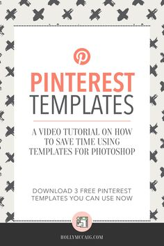 Watch my video tutorial to see how you can save a lot of time using templates when creating your Pinterest social share graphics. They will help you convert better and stay consistent with your brand. Plus, download my FREE samples! https://hollymccaig.com/pinterest-templates/?utm_campaign=coschedule&utm_source=pinterest&utm_medium=Holly%20McCaig%20Creative&utm_content=Pinterest%20Templates%20To%20Save%20Time