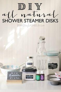 DIY Shower Disks to Help Alleviate Congestion with Eucalyptus Radiata  Lavender essential oils #naturalremedy