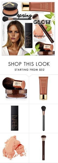 """""""Get Your Spring Glow On"""" by mycherryblossom ❤ liked on Polyvore featuring beauty, Vita Liberata, Estée Lauder, NARS Cosmetics, MAC Cosmetics, Bobbi Brown Cosmetics, Hourglass Cosmetics, Max Factor and Folio"""