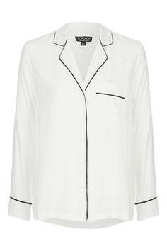 Contrast Casual Pyjama Shirt