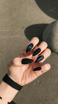 56 Perfect Almond Nail Art Designs For This Winter . - 56 Perfect Almond Nail Art Designs For This Winter - Almond Nail Art, Almond Shape Nails, Black Almond Nails, Fall Almond Nails, Classy Almond Nails, Classy Nails, Simple Nails, Acrylic Nail Designs, Nail Art Designs