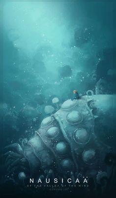 Nausicaa of the Valley of the Wind//Studio Ghibli Illustrations - Created by Hayao Miyazaki, Studio Ghibli Films, Art Studio Ghibli, Studio Ghibli Poster, Nausicaa, Laika Studios, Film Anime, K Wallpaper, Mobile Wallpaper