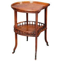 Oak Horseshoe-Shaped Table | From a unique collection of antique and modern side tables at http://www.1stdibs.com/furniture/tables/side-tables/