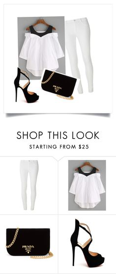 Do pracy by xulax on Polyvore featuring moda, Dorothy Perkins, Christian Louboutin and Prada