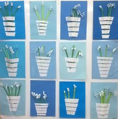 Spring Art Projects, Spring Crafts For Kids, Art For Kids, Preschool Crafts, Easter Crafts, Christmas Crafts, Classroom Wall Decor, Diy And Crafts, Arts And Crafts