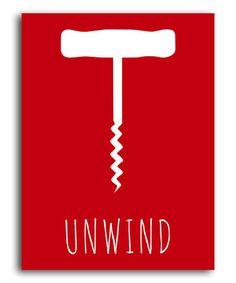 Loving this Red 'Unwind' Corkscrew Print on #zulily! #zulilyfinds