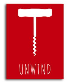 Take a look at this Red 'Unwind' Corkscrew Print by Heart of the Home on #zulily today!