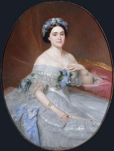 1861 La Princesse Mathilde by Pierre Francois Eugene Giraud (Versailles).