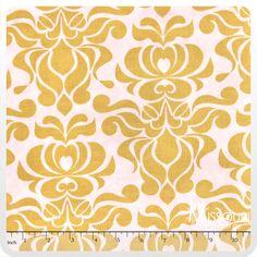 Valencia - Damask Yellow Yardage from Missouri Star Quilt Co