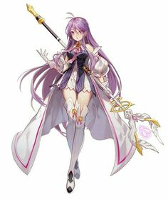 Good General concept, I like the staff design aisha Girls Anime, Anime Girl Cute, Kawaii Anime Girl, Anime Art Girl, Manga Girl, Anime Angel, Anime Demon, Manga Anime, Fantasy Character Design