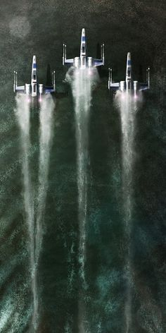 rhubarbes:  Star wars fan art by Andy Fairhurst Art.  More about star wars here.