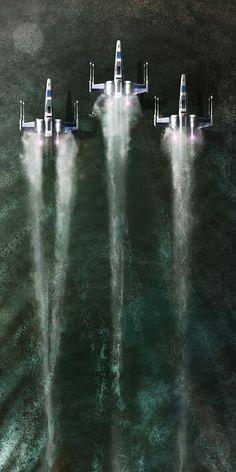 rhubarbes:  Star wars fan art by Andy Fairhurst Art.  More about star wars here.