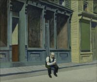 Edward Hopper (1882-1967), Sunday, 1926, oil on canvas, 29 x 34 in.  Acquired 1926 The Phillips Collection, Washington, DC