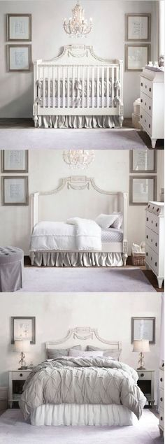 from crib to toddler bed to beautiful headboard.
