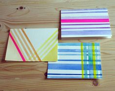 Striped Watercolor Cards
