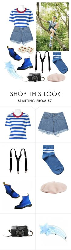 """""""blue"""" by bstfashion ❤ liked on Polyvore featuring Prada, Dr. Martens and Halogen"""