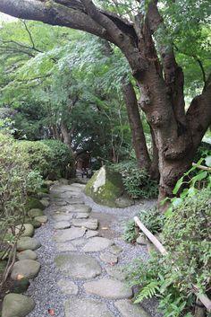 Japanese garden paths streambeds on pinterest japanese for Japanese garden path design