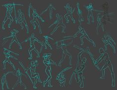 sword Action poses by *THEAltimate on deviantART