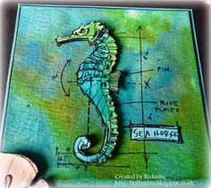 tim holtz mini blueprints seahorse card ideas - Google Search