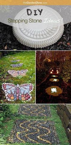DIY Garden Stepping Stone Ideas & Tutorials! by abiiiiiiii