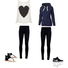 Cute outfits with leggings #1 by miamia1121 on Polyvore