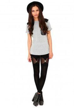 Kareena Suspender Leggings - £14.99 Missguided
