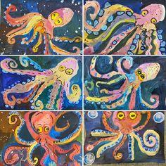 Art Lessons For Kids, Art For Kids, 2nd Grade Art, Fish Art, Art Classroom, Summer Art, Elementary Art, Toddler Crafts, Ancient Art