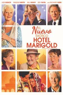 Título: El nuevo exótico Hotel Marigold. Género: Comedia dramática. Título original: The Second Best Exotic Marigold Hotel: life's second act .