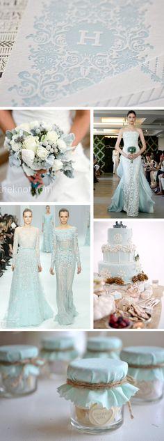 ice blue winter weddings