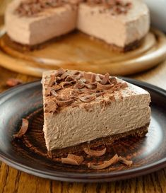 Chocolate Cheesecake Recipe from Mamma's Recipes No Bake Nutella Cheesecake, Chocolate Cheesecake Recipes, Pie Dessert, Dessert Recipes, Ganache Recipe, Best Instant Pot Recipe, Melting Chocolate Chips, Sweet Tarts, Food Cakes