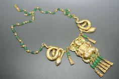 Askew London Buddha peking glass gold-plated necklace   eBay