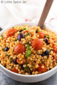 Mediterranean Pearl Couscous Salad (Israeli Couscous)