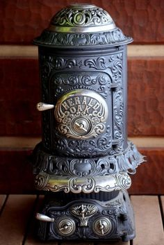 1904, potbelly wood burning stove.