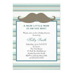 It's a Boy Mustache Baby Shower Invitations