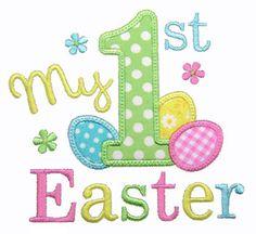 1. Ostern Applique erste Ostern Stickerei von GardenofDaisies