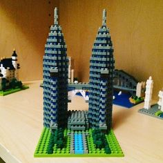 #nanoblock Petronas Twin Towers