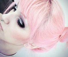 pink hair & piercing