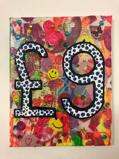 Nine Pound Painting by Barrie J Davies 2020 University Of Wales, Brighton England, Fine Arts Degree, Free Stickers, Mixed Media Canvas, Art Paintings, Psychedelic, Pop Art, Street Art
