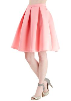 Emphasize the Adorable Skirt in Pink. Show off your sincerely charming style in this bubblegum-pink skirt! #gold #prom #modcloth
