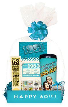 60th Birthday Gift Basket by OriginalMemoryRoad on Etsy