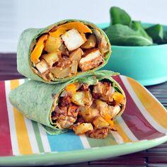 Gluten-free & vegan chipotle tofu potato burrito