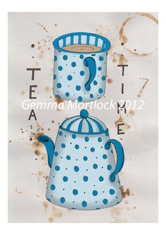 Tea Time A4 Print | Gemma Mortlock via Etsy