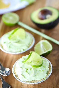 Frozen Mini Key Lime Pies (with Avocado!)