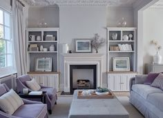Ask Maria: Every Colour in my Living Room Looks Green! Lilac Living Rooms, My Living Room, Living Room Furniture, Living Room Decor, Townhouse Interior, Townhouse Designs, London Townhouse, Sims, Furniture Arrangement