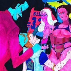 Art by Jonny Negron featured on Diabolical Rabbit. #jonnynegron #art #artist #popculture #sexy #cool #weird #diabolicalrabbit