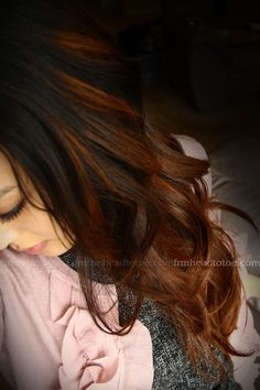 warm brown ombre dark hair...def. what I was looking!