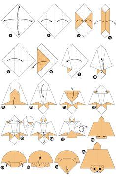 Origami de la ardilla voladora
